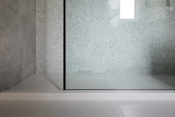 tiled shower features Marmox multiboard, Marmox hobs, Marmox shower base